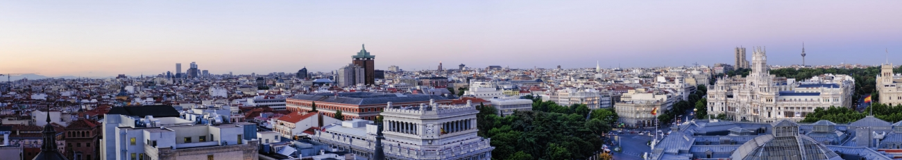 Panoramic of Madrid
